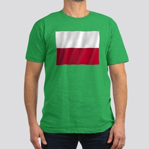 Pure Flag of Poland Men's Fitted T-Shirt (dark)