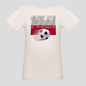 Soccer Flag Poland (B) Organic Baby T-Shirt