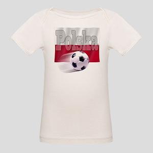 Soccer Flag Polska (B) Organic Baby T-Shirt