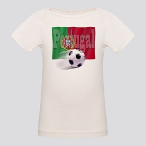 Soccer Flag Portugal (B) Organic Baby T-Shirt