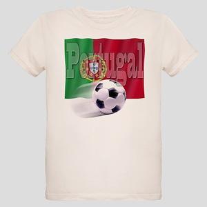 Soccer Flag Portugal (B) Organic Kids T-Shirt