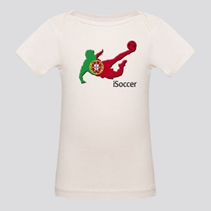 iSoccer Portugal Organic Baby T-Shirt