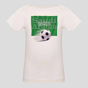 Soccer Flag Saudi Arabia (B) Organic Baby T-Shirt