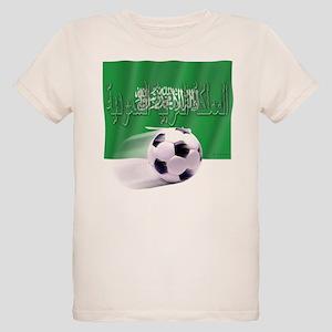 Soccer Flag Saudi Arabia nati Organic Kids T-Shirt