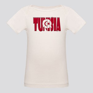 Word Art Flag Tunisia Organic Baby T-Shirt