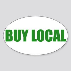 Buy Local Oval Sticker
