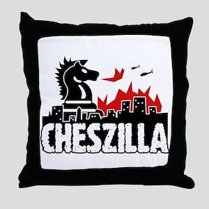 Chess Zilla 2 Throw Pillow