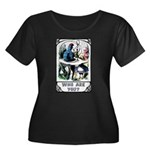 Who Are You Women's Plus Size Scoop Neck Dark T-Sh