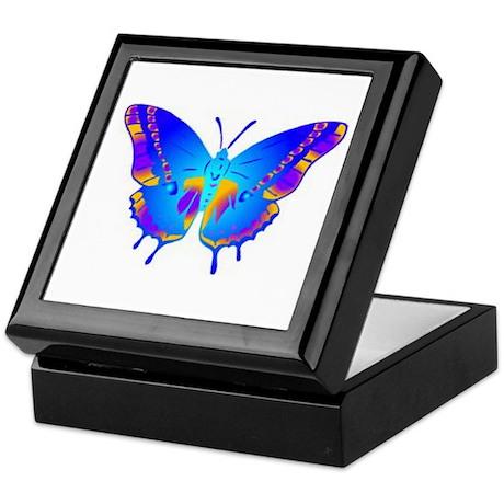 Blue Butterfly Keepsake Box