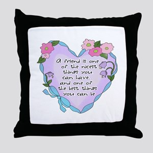 Friendship Heart 1 Throw Pillow