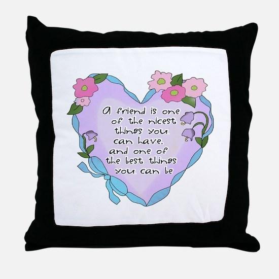 Friendship Heart 1 Throw Pillow
