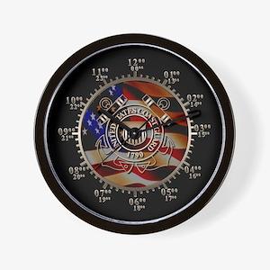 USCG Military Time Wall Clock