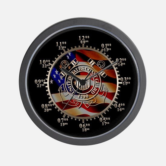 USCG Military Time Wall Clock