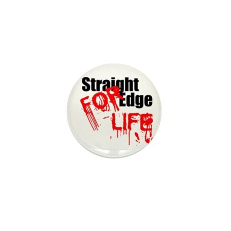 Straight Edge For Life Mini Button (10 pack)