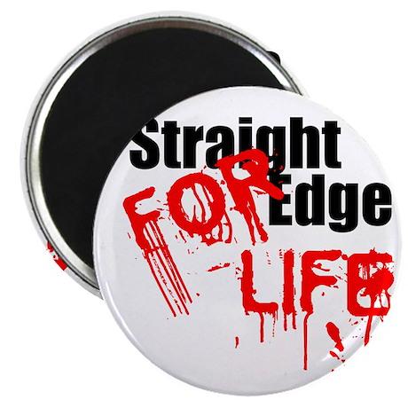 """Straight Edge For Life 2.25"""" Magnet (10 pack)"""