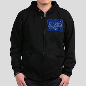 Alaska The Last Frontier Zip Hoodie (dark)