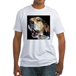 Crazy beagle Fitted T-Shirt