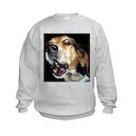 Crazy beagle Kids Sweatshirt