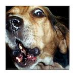 Crazy beagle Tile Coaster