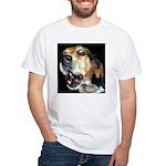 Crazy beagle White T-Shirt