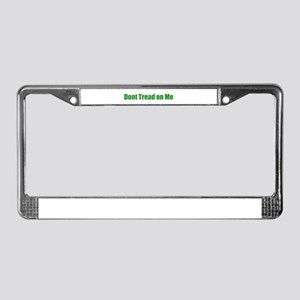 Don't Tread On Me! Green License Plate Frame