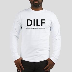 DILF-BlkGry Long Sleeve T-Shirt
