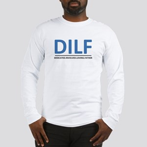 2-DILF-DblueBlk Long Sleeve T-Shirt