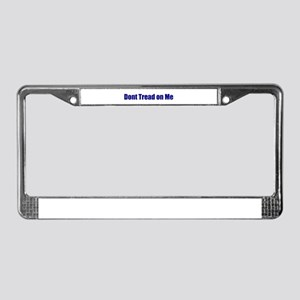 Don't Tread On Me! Blue License Plate Frame