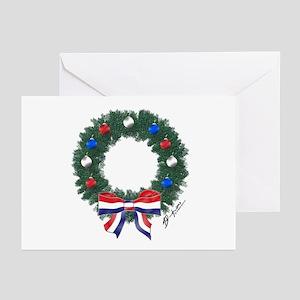 Freedom Wreath {B} Greeting Cards (Pk of 10)