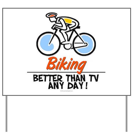 Biking Yard Sign