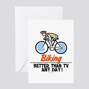 Biking Greeting Card