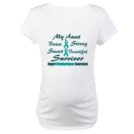 Ovarian Aunt Words Maternity T-Shirt