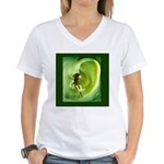Embrace your world, save the Women's V-Neck T-Shir