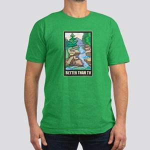 Outdoors Nature Men's Fitted T-Shirt (dark)