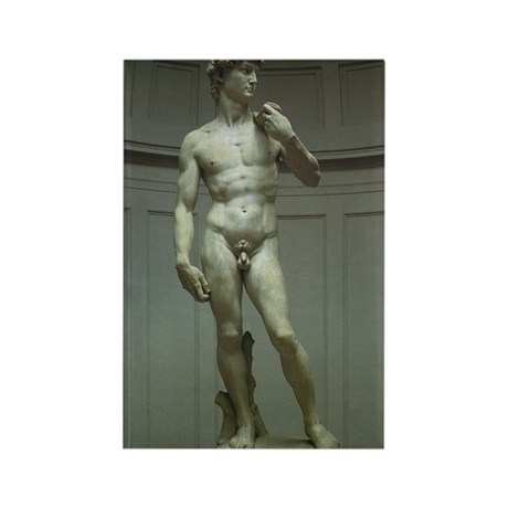 Statue of David by Michelangelo Rectangle Magnet (