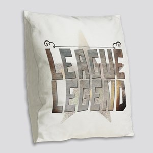 League legend Burlap Throw Pillow