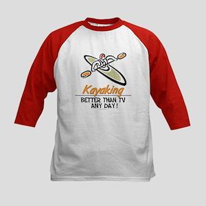 Kayaking Kids Baseball Jersey