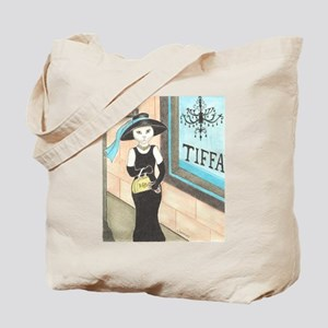 Breakfast at Tiffany's White Cat Tote Bag