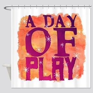 A Day of Play Shower Curtain