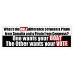 Boat and Vote Bumper Sticker