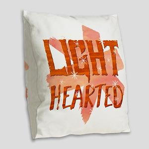 Light Hearted Burlap Throw Pillow