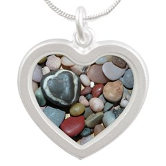 Lava Heart Stone Necklaces