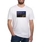 Atlanta City Skyline Fitted T-Shirt