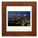 Atlanta City Skyline Framed Tile