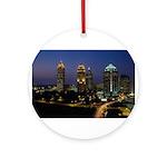 Atlanta City Skyline Ornament (Round)