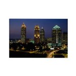 Atlanta City Skyline Rectangle Magnet (100 pack)