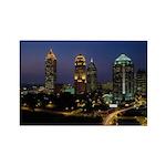 Atlanta City Skyline Rectangle Magnet (10 pack)