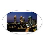 Atlanta City Skyline Oval Sticker