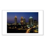 Atlanta City Skyline Rectangle Sticker