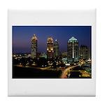 Atlanta City Skyline Tile Coaster